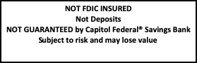 Brokerage Not FDIC Insured