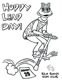 Leap Day Coloring Page Image