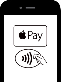 image of apple pay logo on a mobile phone screen