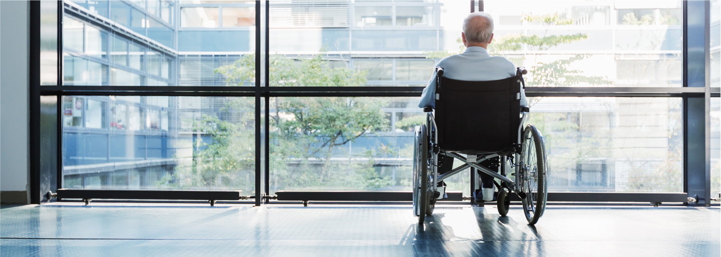Senior man in wheelchair image