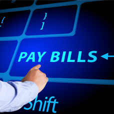 paying bills online image