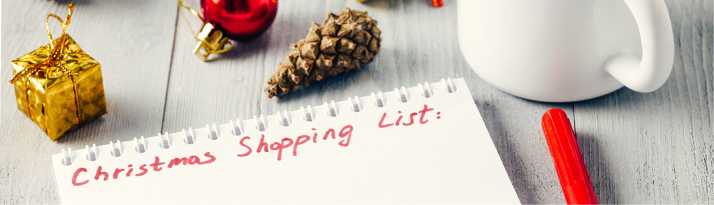 Christmas Shopping List Blog Hero Image.