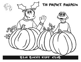 Blue Bucks pumpkin coloring sheet image