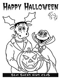 Happy Halloween coloring page image