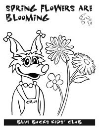 Blue Bucks spring coloring page.