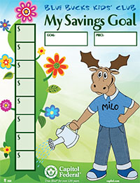 Blue Bucks Savings Goal Sheet Image