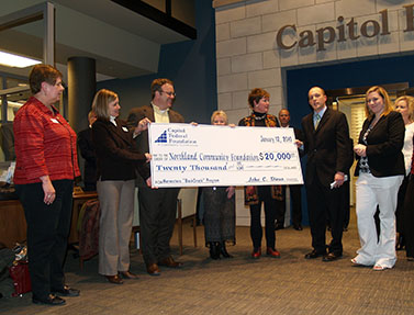 Image of Capitol Federal's Embassy Plaza branch grand opening in North Kansas City