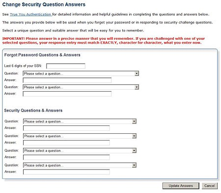 Change Security Answers Image